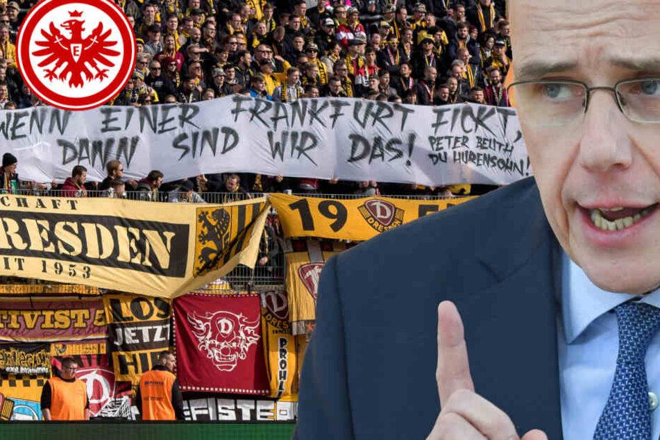In vielen deutschen Stadien reagierten Fan-Gruppierungen mit Bannern gegen Beuth. Auch die Fans von Dynamo Dresden hatten beim Auswärtsspiel in Darmstadt ein entsprechendes Spruchband parat.