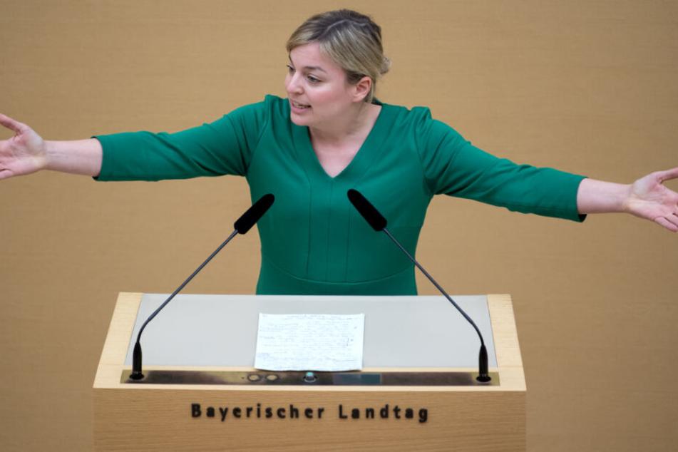 Katharina Schulze will sich von den Anfeindungen nicht beirren lassen.