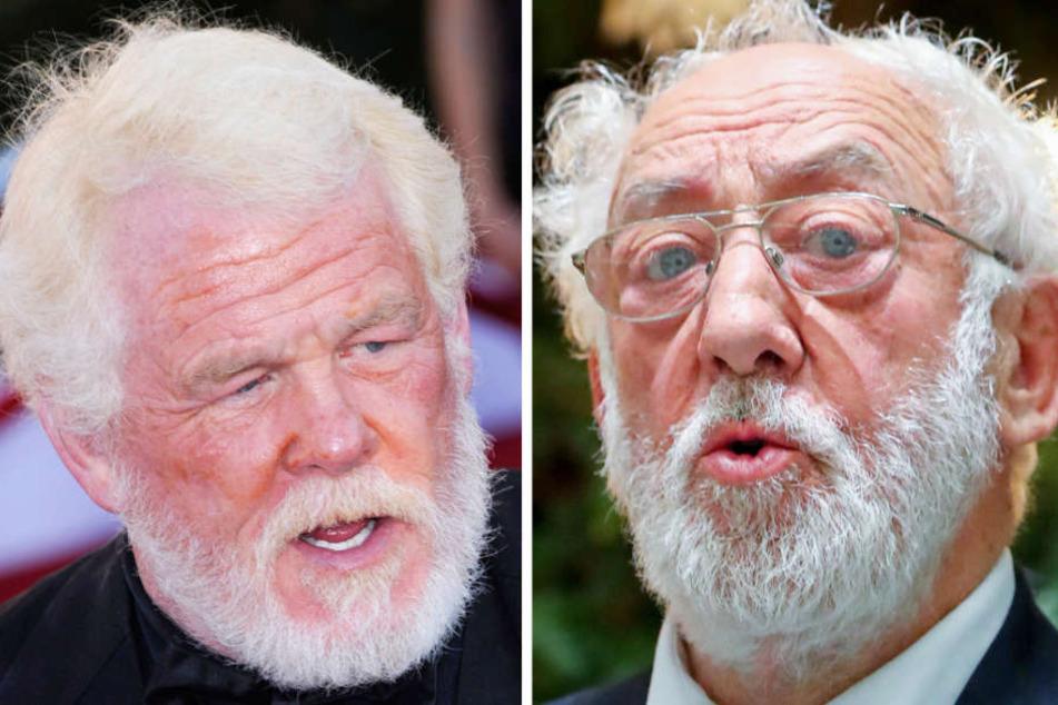 Der 77-jährige Schauspieler Nick Nolte (links) spielt in der Neuverfilmung die Rolle des Opas, die zuvor Dieter Hallervorden (rechts) in der deutschen Version des Films eingenommen hat.