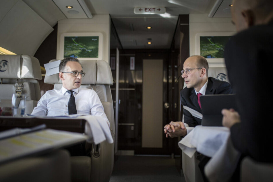 Oft in Europa unterwegs: Der amtierende Bundesaußenminister Heiko Maas (53, SPD) und Andreas Peschke.