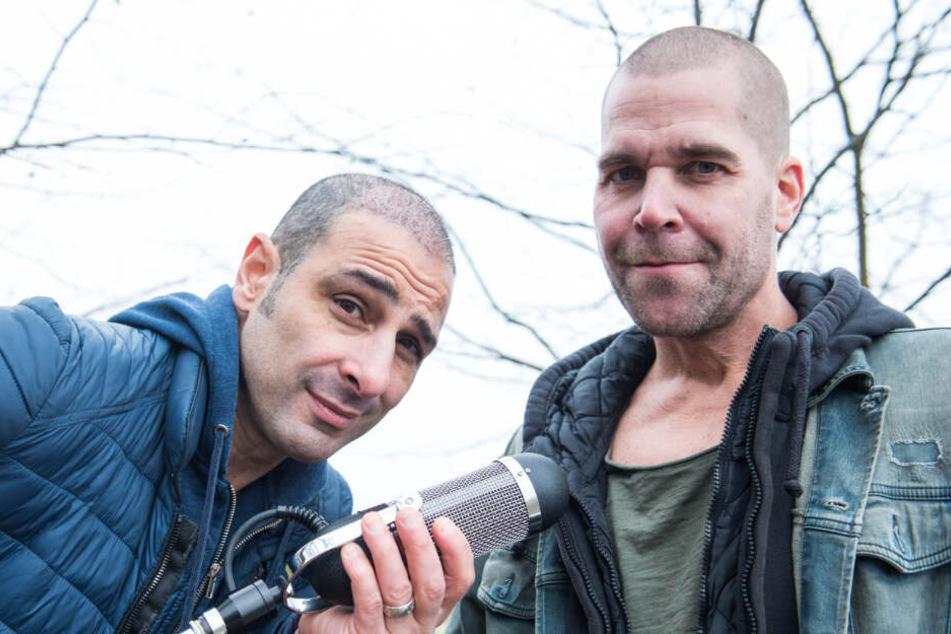 """Die Sänger Volkan Baydar und Vince Bahrdt bilden das Duo """"Orange Blue""""."""
