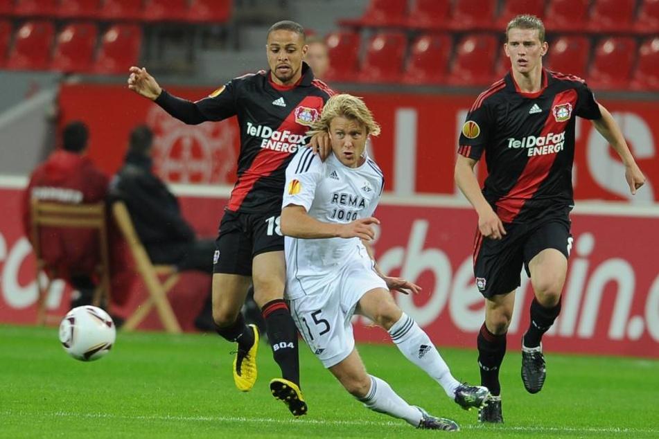 Skjelbred lief auch für Rosenborg BK in der Europa League auf. Hier in Leverkusen.