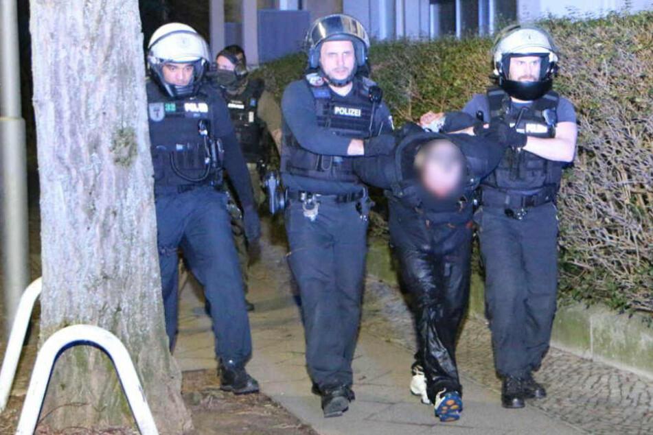 Polizisten konnten den Mann festnehmen.