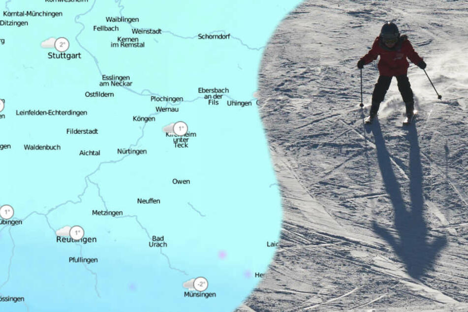 Im Bergland ist am Wochenende Skifahren angesagt.