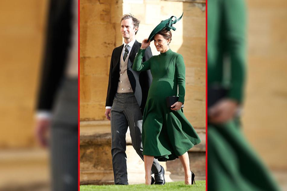 Gemeinsam mit Ehemann James Matthews (43) besuchte Pippa (35) am Freitag noch hochschwanger die Hochzeit in Windsor.