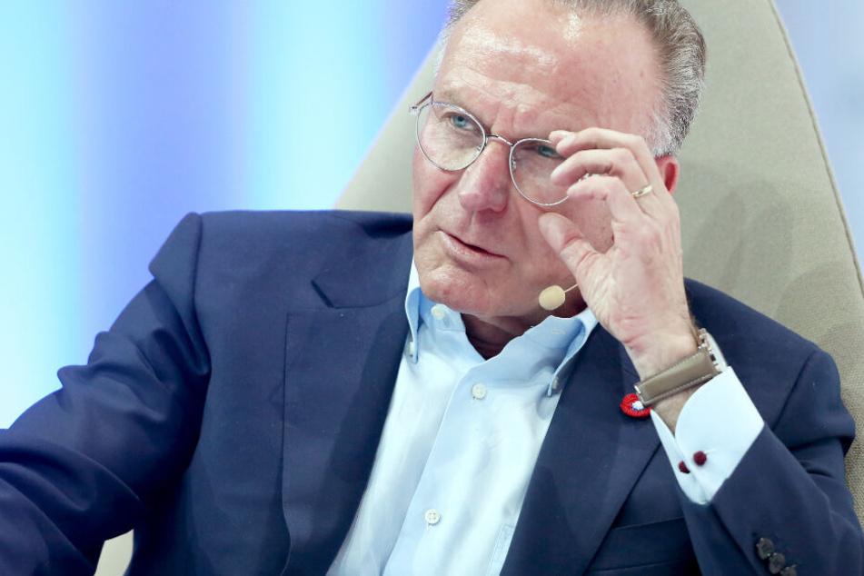 Karl-Heinz Rummenigge sieht CL-Spiele nur im Pay-TV als kritisch an. (Archivbild)