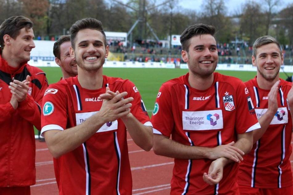 Waren gute Kumpel in Erfurter Zeiten: Luka Odak (l.) und Niklas Kreuzer.