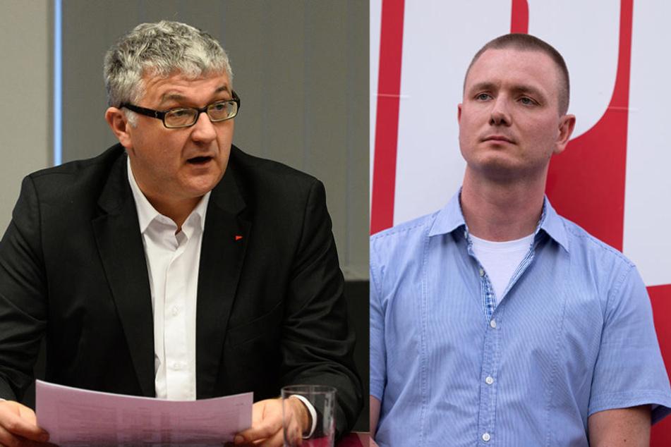 Lieferten sich ein Wortgefecht im Stadtrat: Linken-Stadtrat Tilo Kießling (links) und NPD-Stadtrat Jens Baur (rechts).