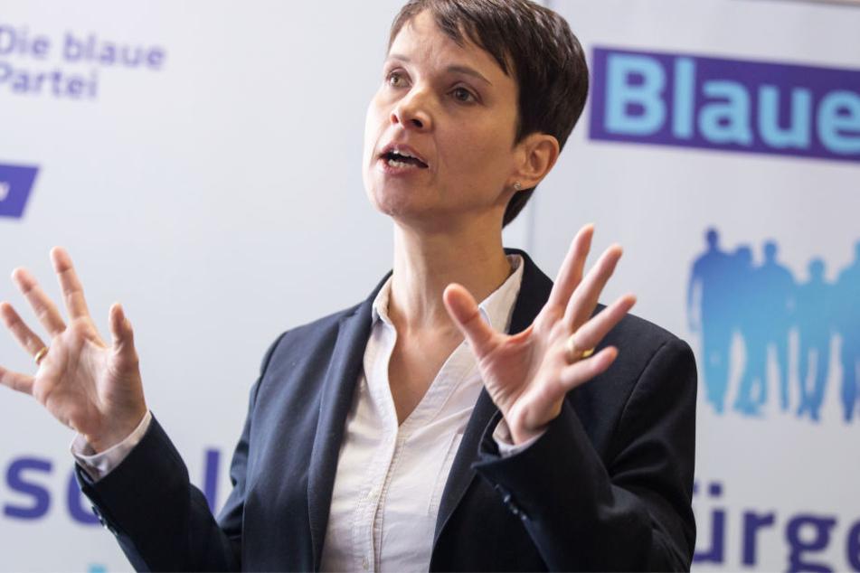 Ex-AfD-Chefin Frauke Petry trat am Samstag in Rodgau auf.