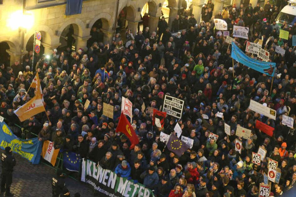In Münster gab es erst vor Kurzem heftige Proteste gegen den Neujahrsempfang der AfD.