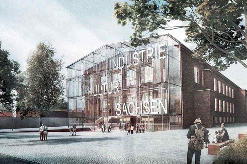 Zwickaus historischer Audi-Bau wird sich für die Landesausstellung 2020 verändern. Er bekommt einen Glasanbau verpasst.