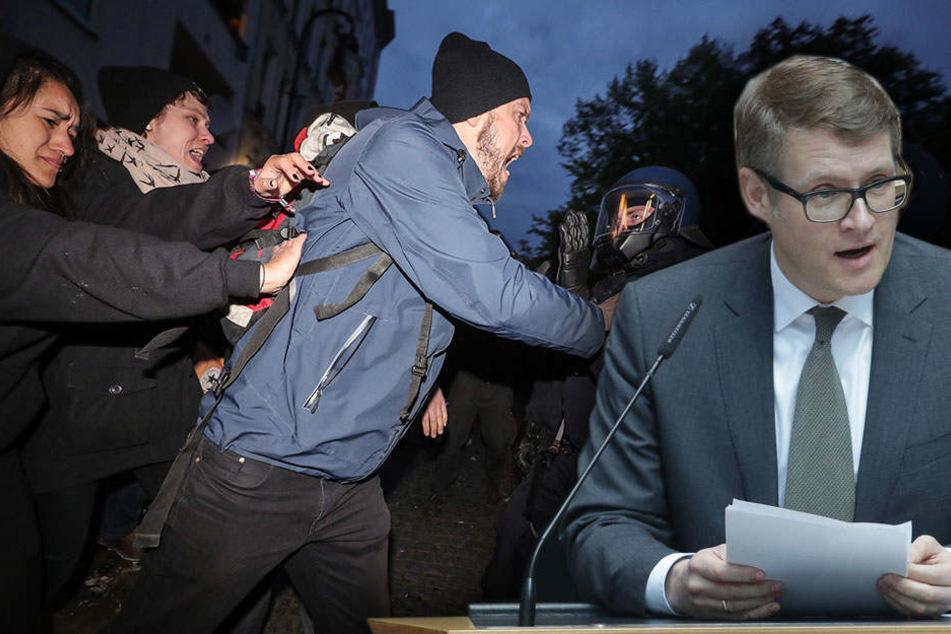 Stephan Lenz fordert für die gesamte Partei ein hartes Vorgehen gegen die Chaoten vom 1. Mai.