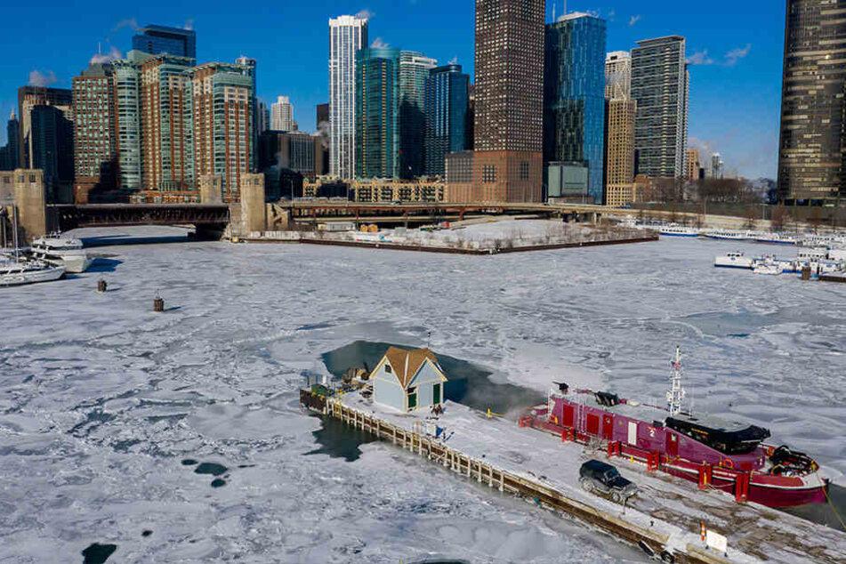 Eisige Temperaturen mit rekordverdächtigen Minuswerten habe weite Teile der USA im Griff.