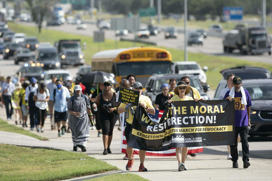 Texas voting rights activists begin Selma-style march to state Capitol