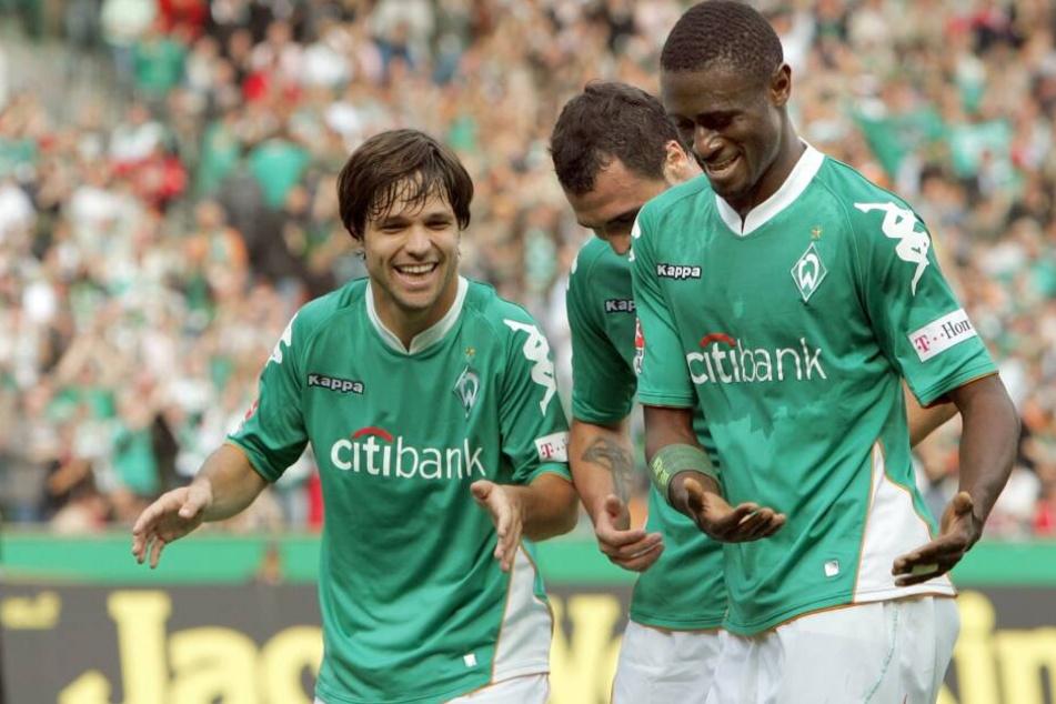 Boubacar Sanogo (r.) erzielte 19 Tore in 42 Partien für Werder Bremen.