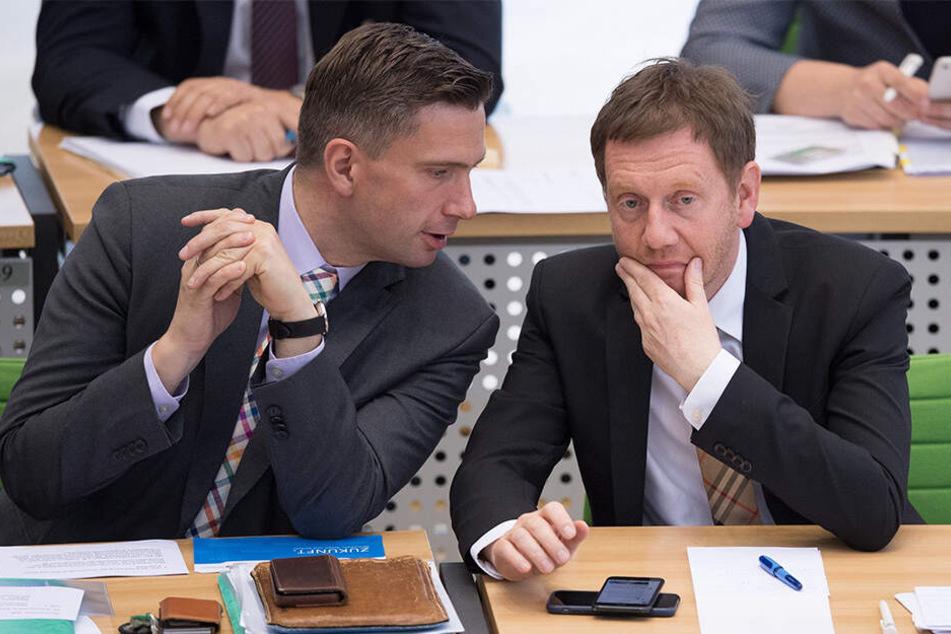 Martin Dulig (links) und Michael Kretschmer können gut miteinander, auch wenn die Große Koalition sicher für beide keine Liebesheirat war. Beide Politiker gelten als extrem fleißig, bloß: Das Glück des Tüchtigen lässt hier wie dort noch auf sich warten.