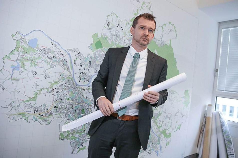 """Spricht von einen """"ambitionierten Zeitplan"""": Baubürgermeister Raoul Schmidt-Lamontain (41, Grüne)."""
