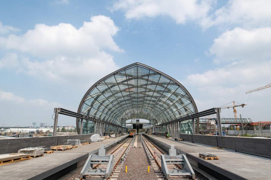 Hier befindet sich die U4-Haltestelle noch im Bau: Am Donnerstag wird sie endlich eingeweiht.