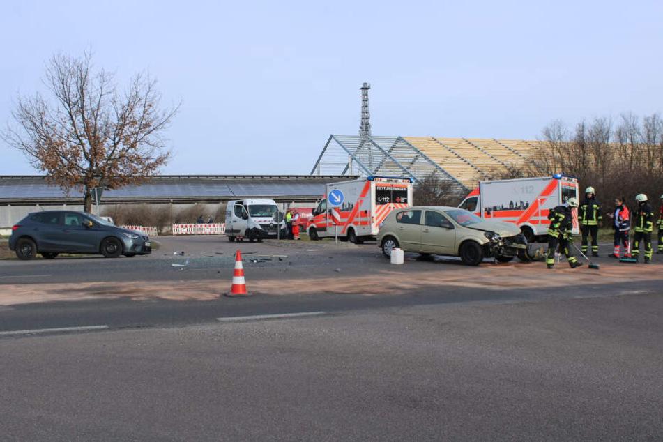 Auf der Rippachtalstraße in Leipzig ist es am Donnerstagmorgen zu einem Unfall gekommen.