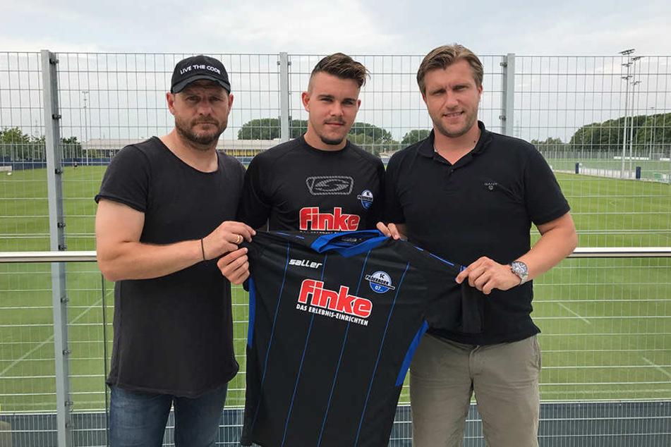 Matthias Stingl (Mitte) spielte zuletzt in der U19 des FC Bayern München.