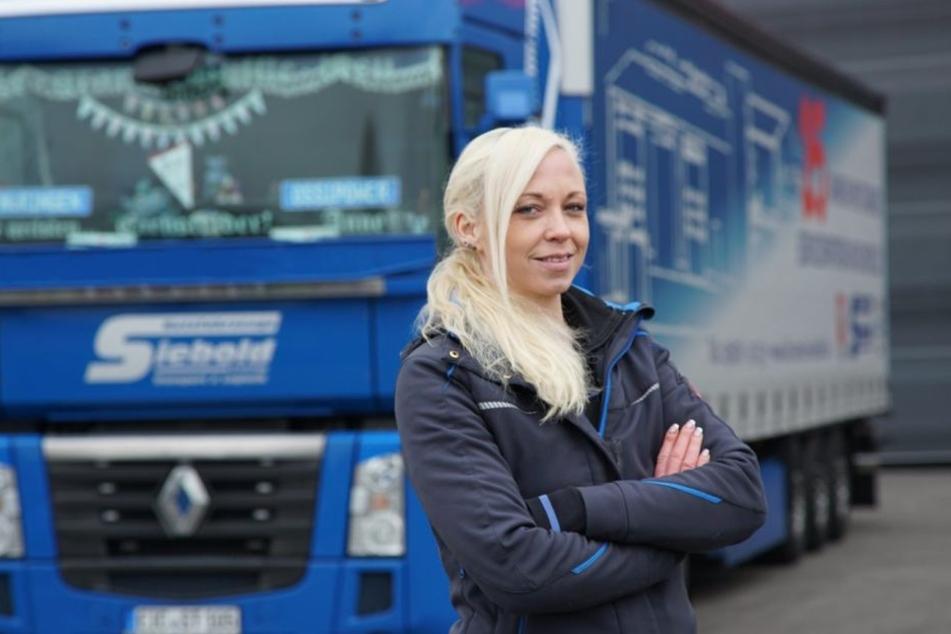 Anne Laufer fährt seit neun Jahren Lkw.