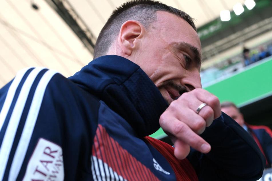Franck Ribéry vom FC Bayern München ist auf Twitter ausgerastet. (Archivbild)