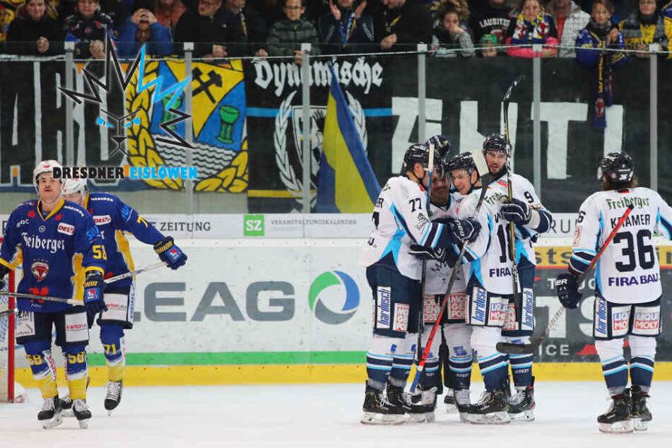 Eislöwen feiern überragenden Sachsenderby-Sieg in Weißwasser!