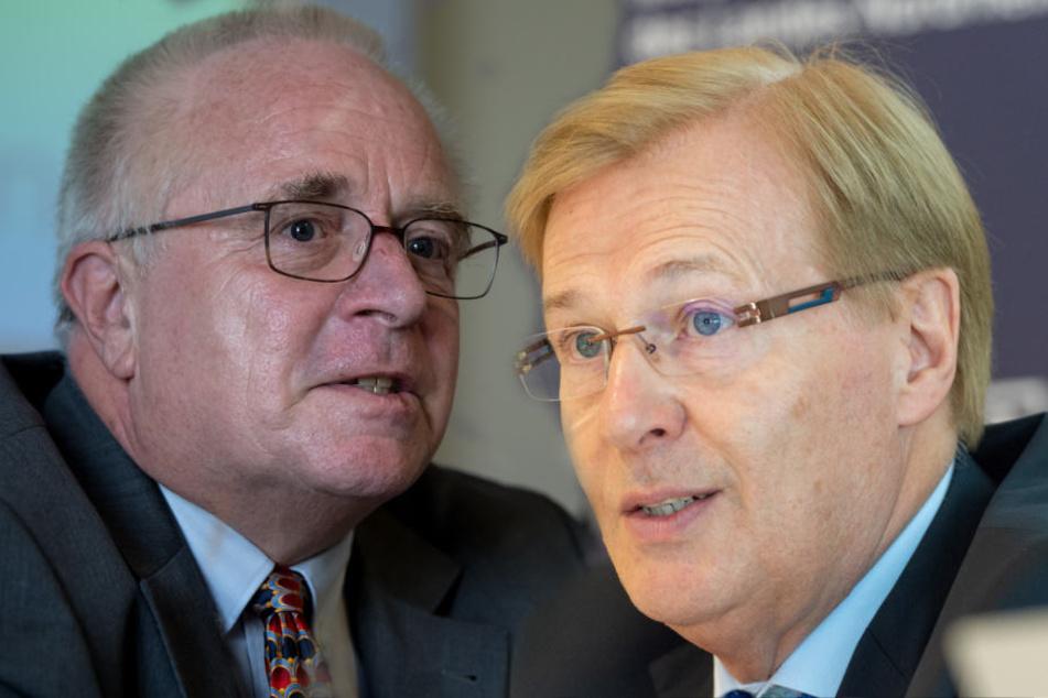 Bayerns Justizminister Winfried Bausback (CSU) und der NRW-Justrizminitser Peter Biesenbach (CDU) sind für das Gesichtsverhüllungsverbot.