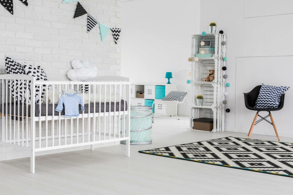 Ein modernes Kinderzimmer.