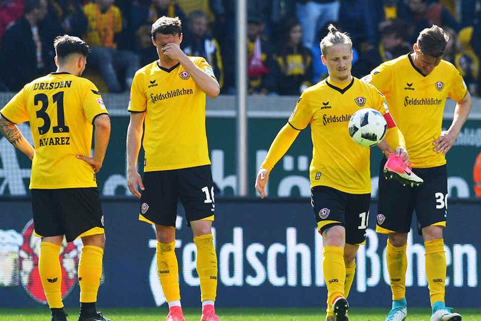 Die pure Enttäuschung trotz Punktgewinn: Nach dem Spiel am Sonntag war bei Dynamo niemand zufrieden.