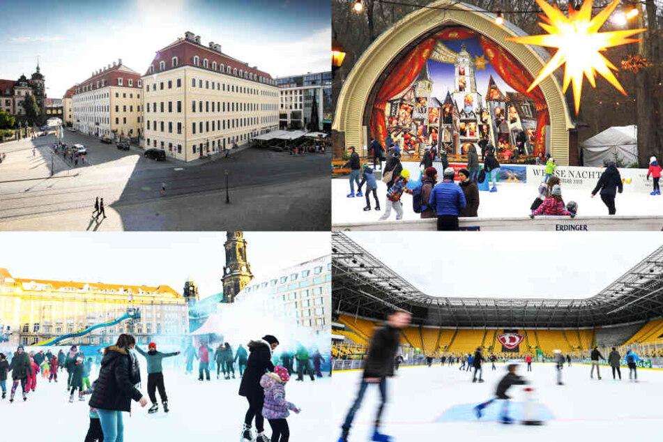 Dresden: Dresdens schönste Eisbahnen: Auf die Kufen, fertig, rutsch!