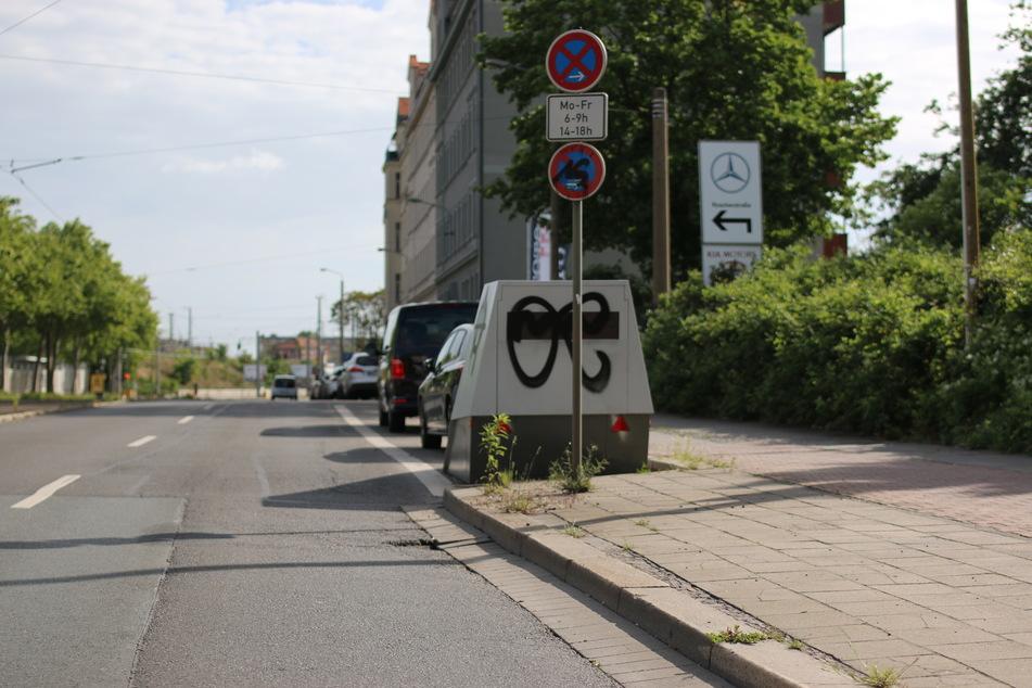 In der Berliner Straße wurde einer der Superblitzer besprüht.