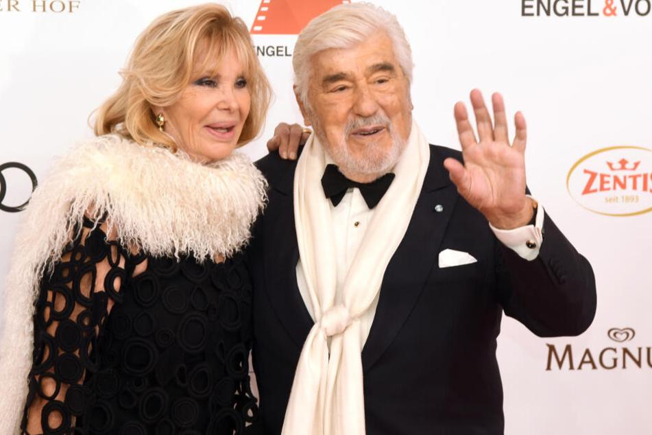 Schauspieler Mario Adorf und seine Ehefrau Monique.