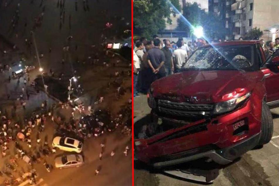 Auf Videos, die nach dem Vorfall in Chinas sozialen Netzwerken geteilt wurden, waren Dutzende am Boden liegende Menschen zu erkennen.