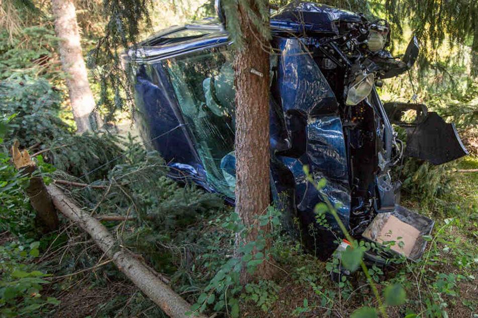 Dacia durchbricht Zaun und landet im Garten: Fahrer schwer verletzt