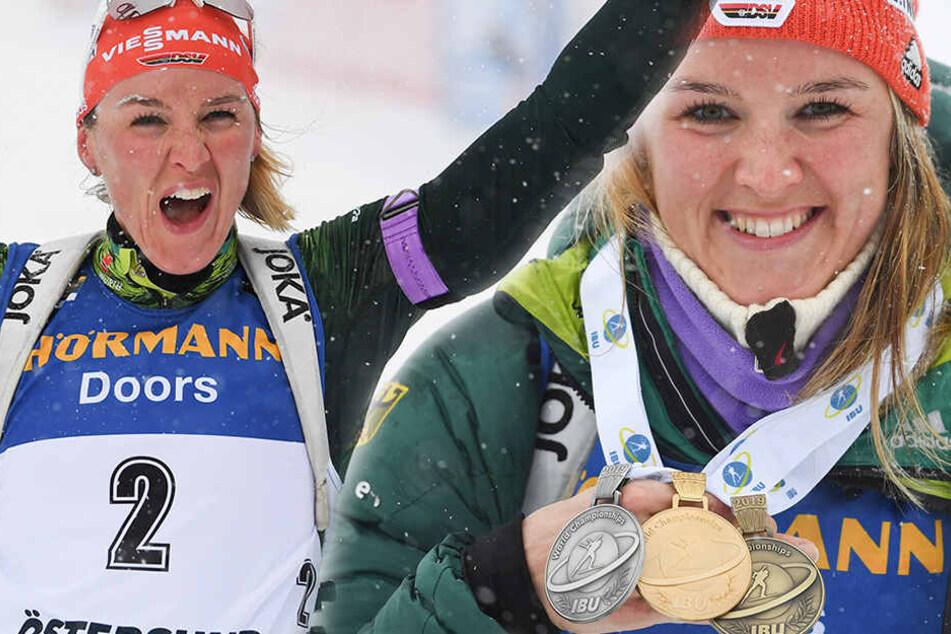 Medaillensatz komplett: Denise Herrmann erfolgreichste Deutsche bei Biathlon-WM