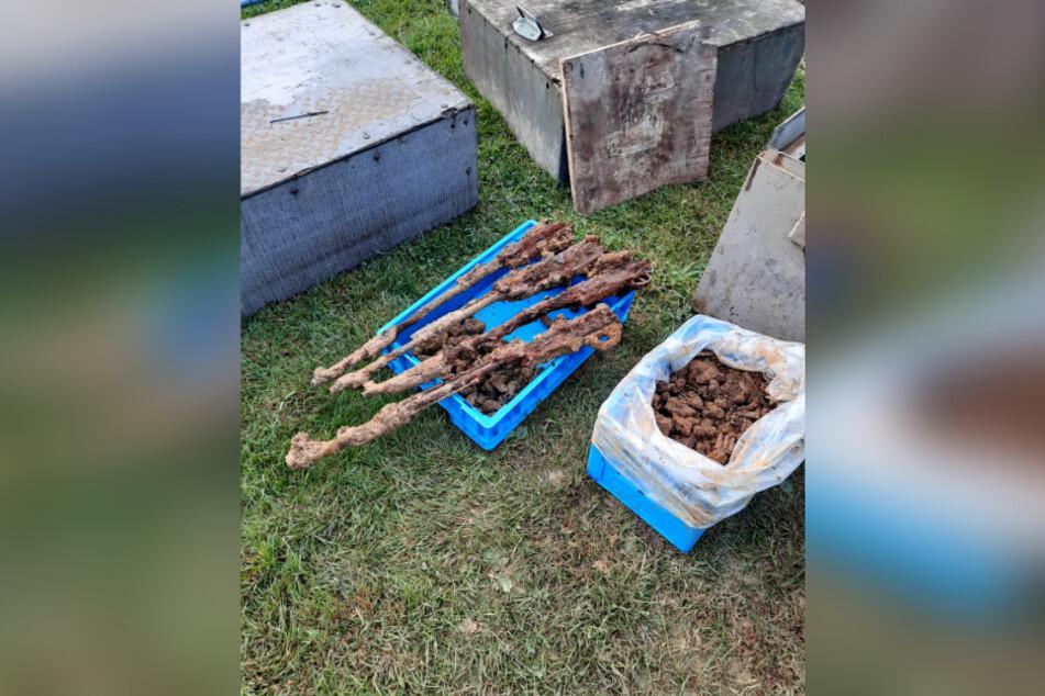 Teile der von Bauarbeitern gefundenen Munition.