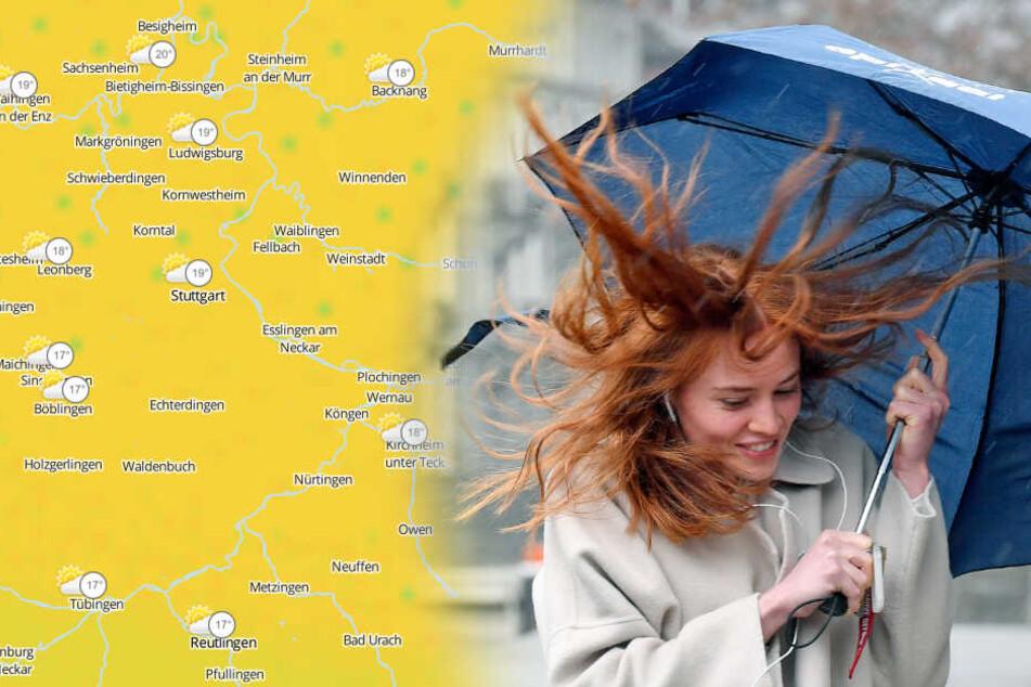Eine Kaltfront bringt unangenehmes Wetter. (Fotomontage/Symbolbild)