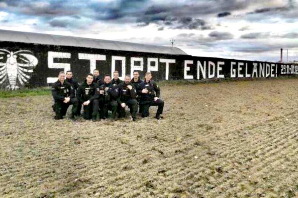 """Die Aktivisten-Gruppe """"Ende Gelände"""" veröffentlichte dieses Foto auf Twitter."""