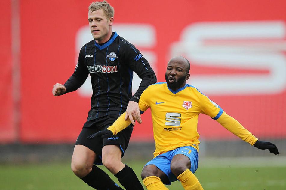 Michael Wiemann (29) durfte sich in einigen Testspielen beweisen. Hier gegen Eintracht Braunschweig.
