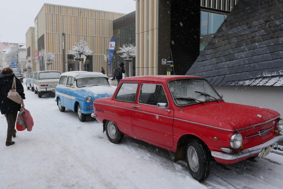 Insgesamt ziehen 15 DDR-Oldtimer ins neue Museum am Albertplatz.