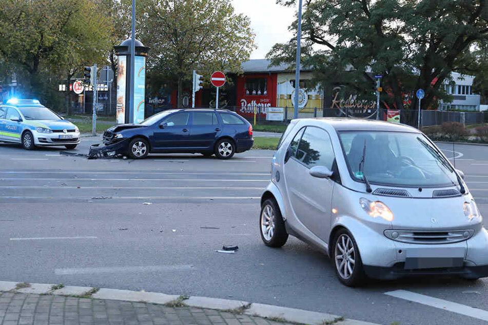 An der Hansastraße / Fritz-Reuter-Straße stießen zwei Fahrzeuge zusammen.