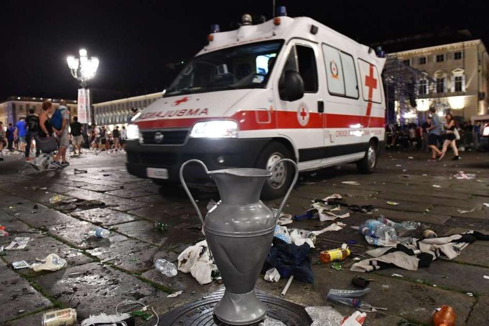 Bei der Massenpanik auf der Piazza San Carlo in Turin wurden 1500 Menschen verletzt.