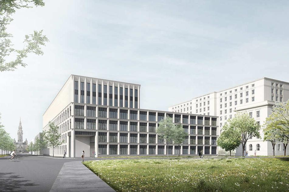 So soll der 63 Millionen Euro teure Neubau einmal aussehen.
