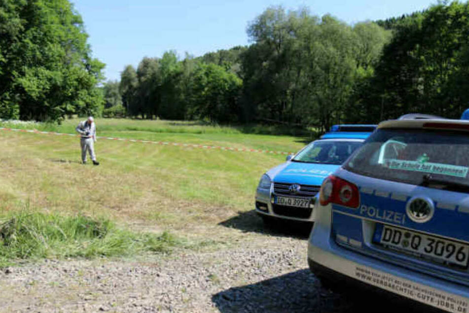 Auf dieser Wiese in Culitzsch wurde das tote Baby im Sommer 2017 gefunden.