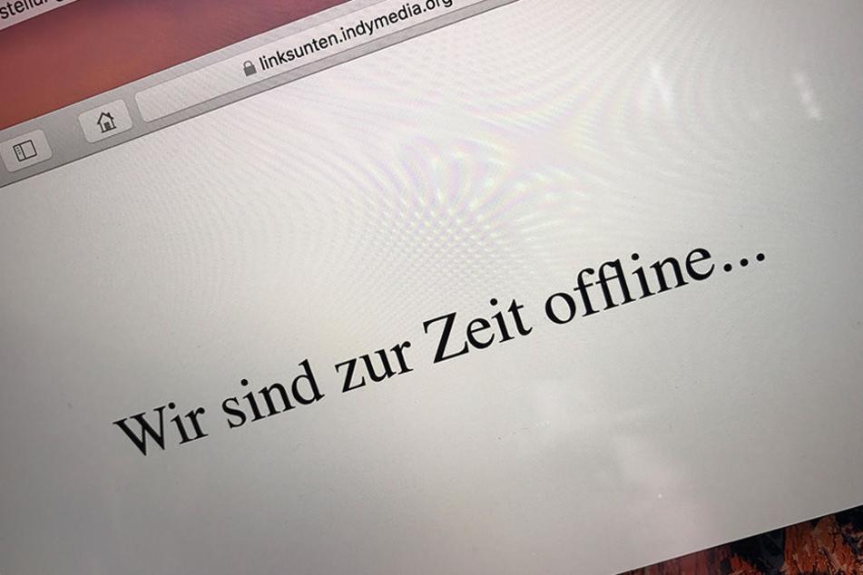 """Die Seite ist offline: Sieben Wochen nach den linksextremen Krawallen am Rande des G20-Gipfels in Hamburg hat das Bundesinnenministerium die linksextremistische Internetplattform """"linksunten.indymedia.org"""" verboten."""