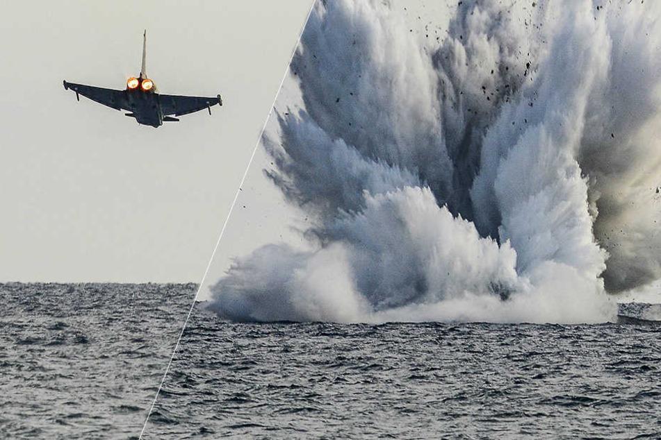 Schock bei Flugshow: Eurofighter stürzt ins Meer, Pilot stirbt