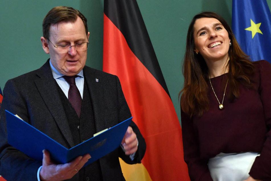 Bodo Ramelow (Linke) ernannte am Dienstag Valentina Kerst zur Wirtschaftsstaatssekretärin.
