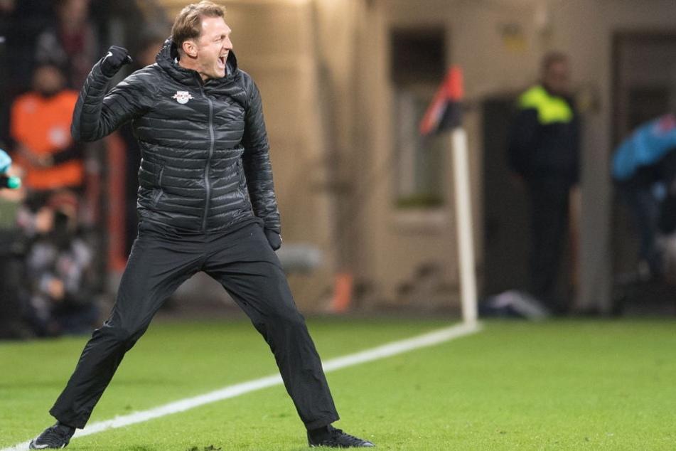 RBL-Cheftrainer Ralph Hasenhüttl sieht die nächsten fünf Spiele seiner Mannschaft als richtungsweisend an.