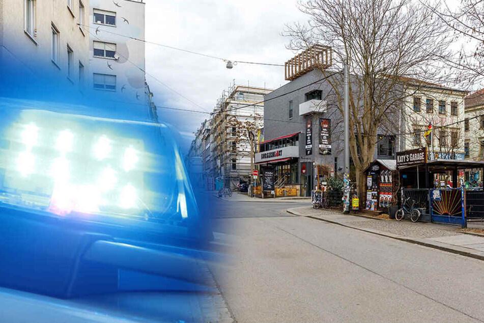Alaunstraße: Männer-Gruppe geht auf 20-Jährigen los